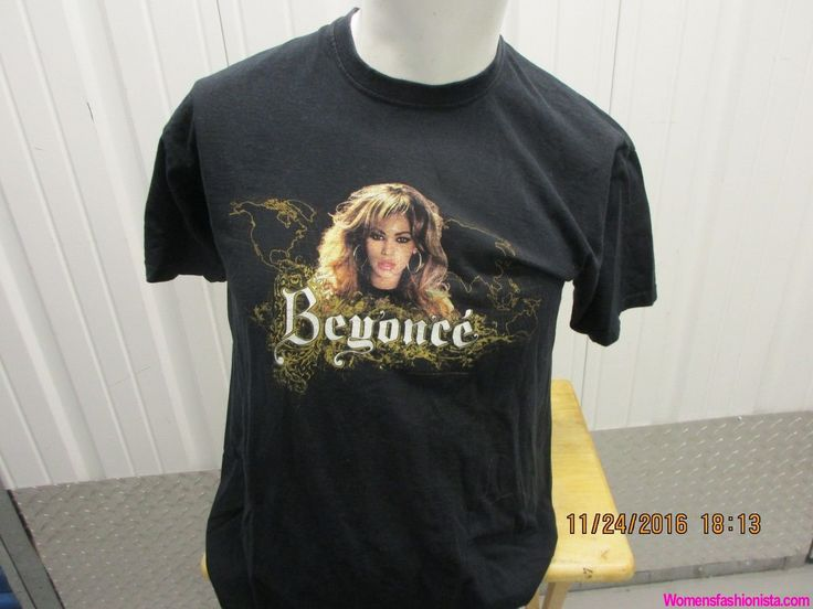 2007 THE BEYONCE EXPERIENCE CONCERT WORLD TOUR BLACK T SHIRT