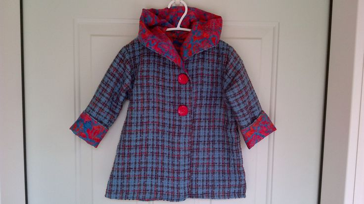 Child's Blue Car Coat 18 months C69/15 by zoya49 on Etsy