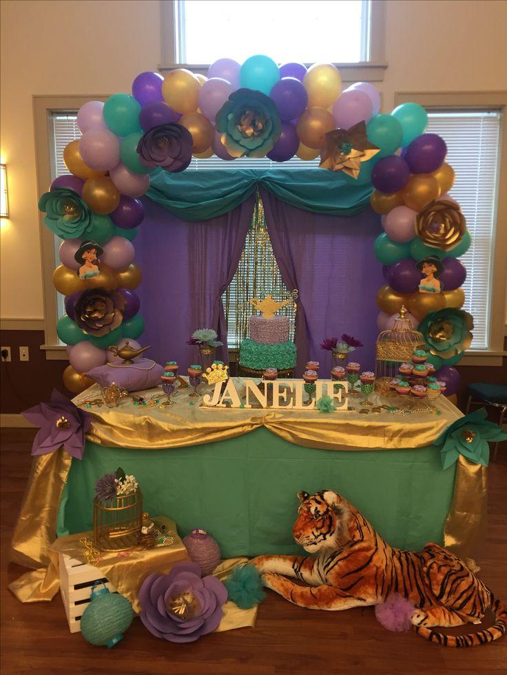 Princess Jasmine Birthday Party Ideas Kr Kreations In