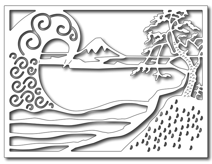 Frantic Stamper Precision Die - Tidal Wave Card Panel,$12.50