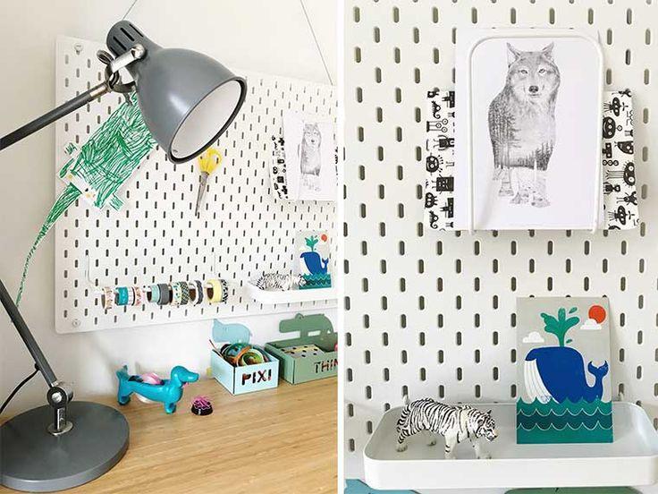 Een nieuwe werkplek voor Finn; ingericht met IKEA bureau Lillasen en hulp van de IKEA app.