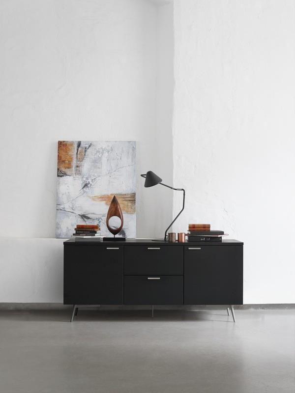 Milano Danish designer sideboard - black