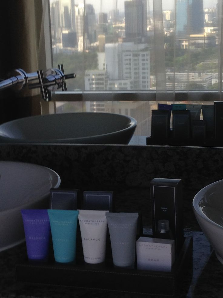 Aromatherapy amenities in our suite at the Conrad Bangkok Hotel, Thailand