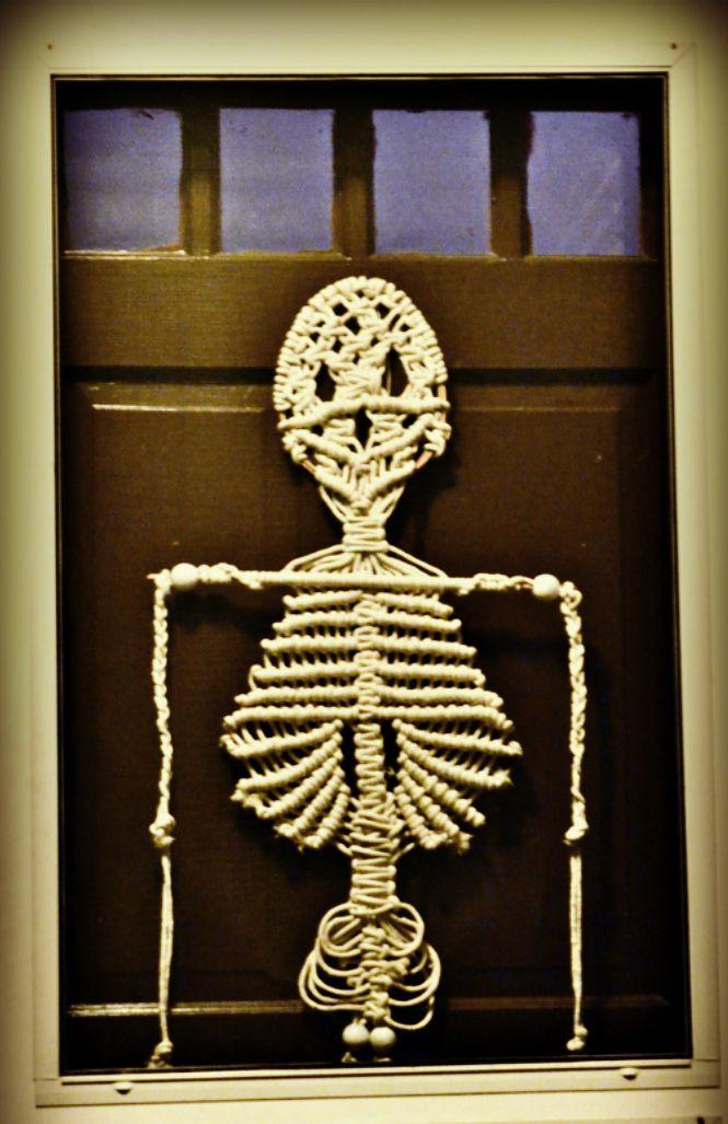 Vintage Macrame Skeleton Melinda And I Each Made One In