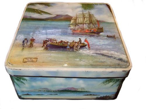 Huntley and Palmers, Mutiny on the Bounty biscuit tin 1962