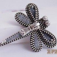 felt & zipper brooch