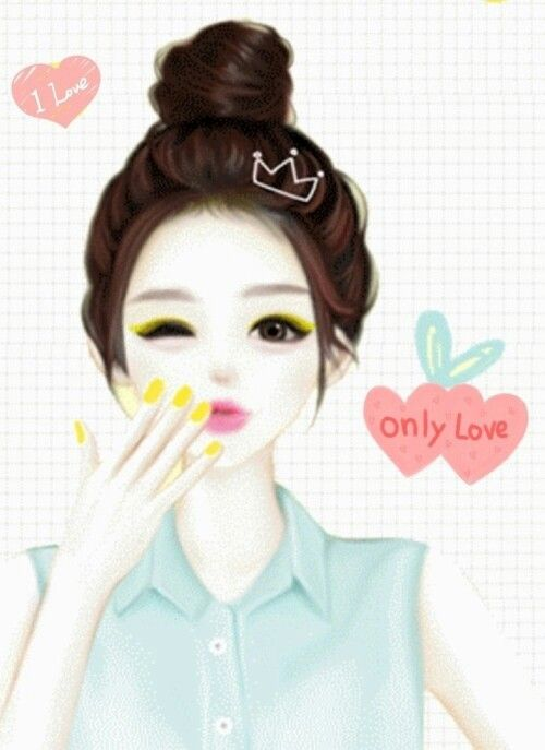 A Beautiful Cartoon Girl Face Enakei | girly ...