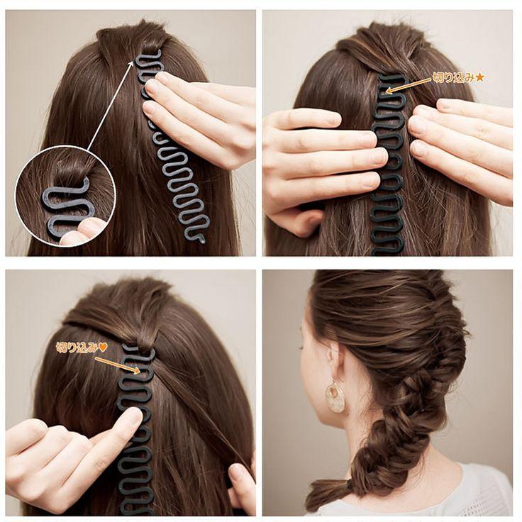 1 Pcs Hair Styling Braid Alat Gaya Rambut Alat Mengepang Menenun Sihir Roller Putar Bun Pembuat Aksesoris Rambut
