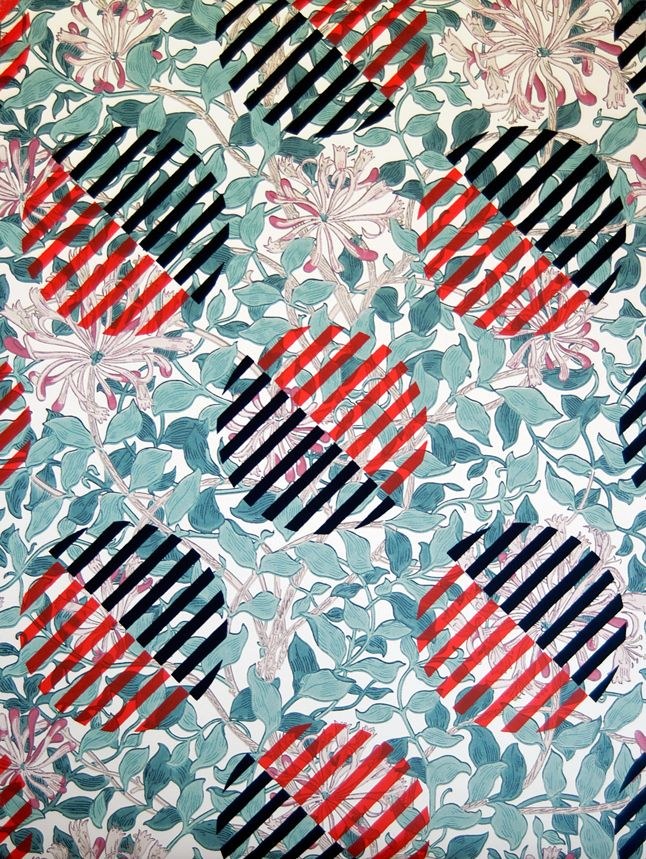 Commodity as comrade: Luibov Popova – Untitled textile design on William Morris wallpaper for Historical Materialism | ephemera