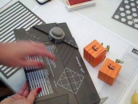 ▶ Gift Box Punch Board Halloween Pumpkin Stampin' UP! - YouTube
