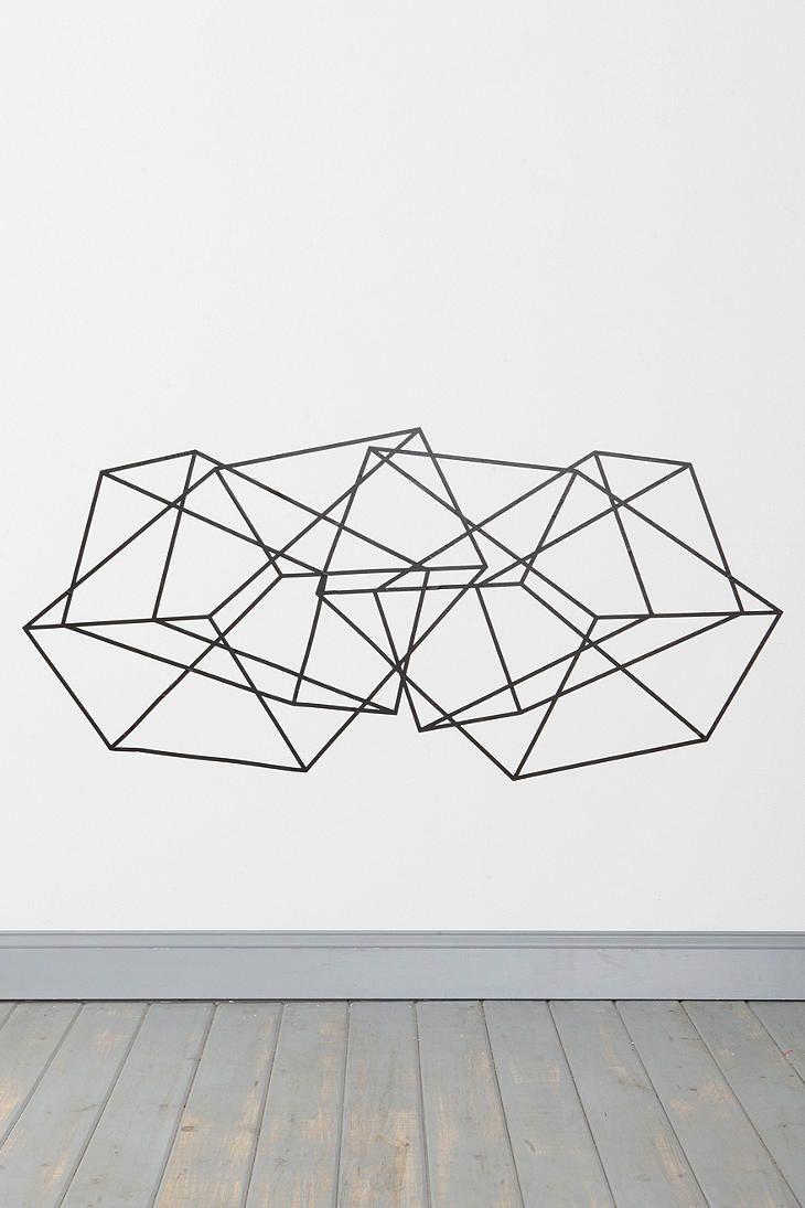 25 best ideas about Geometric wall art on Pinterest