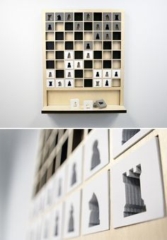 Mate Wall Hanging Chess Board - Mate is a wall hanging chess board that will put your strategy on display. Part wall art yet fully functional, it's designed and built in Michigan and offered in a wide array of custom colors. | werd.com