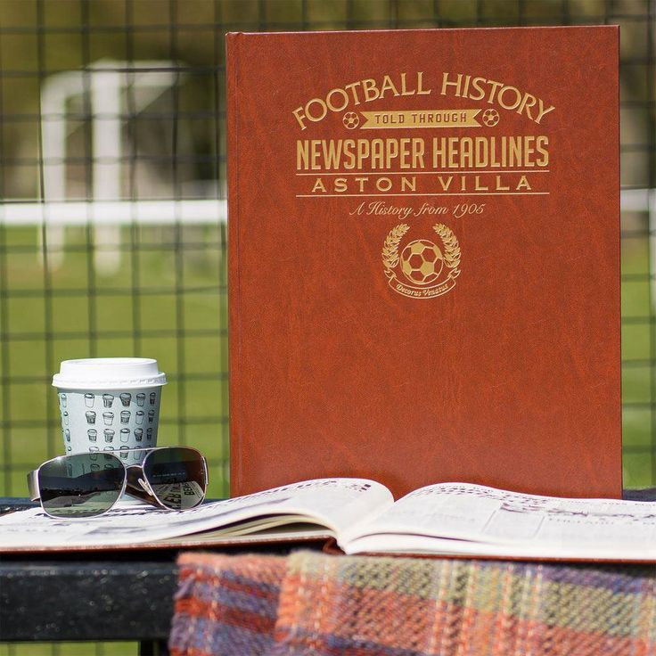 Customised Aston Villa Football Club Headline Book