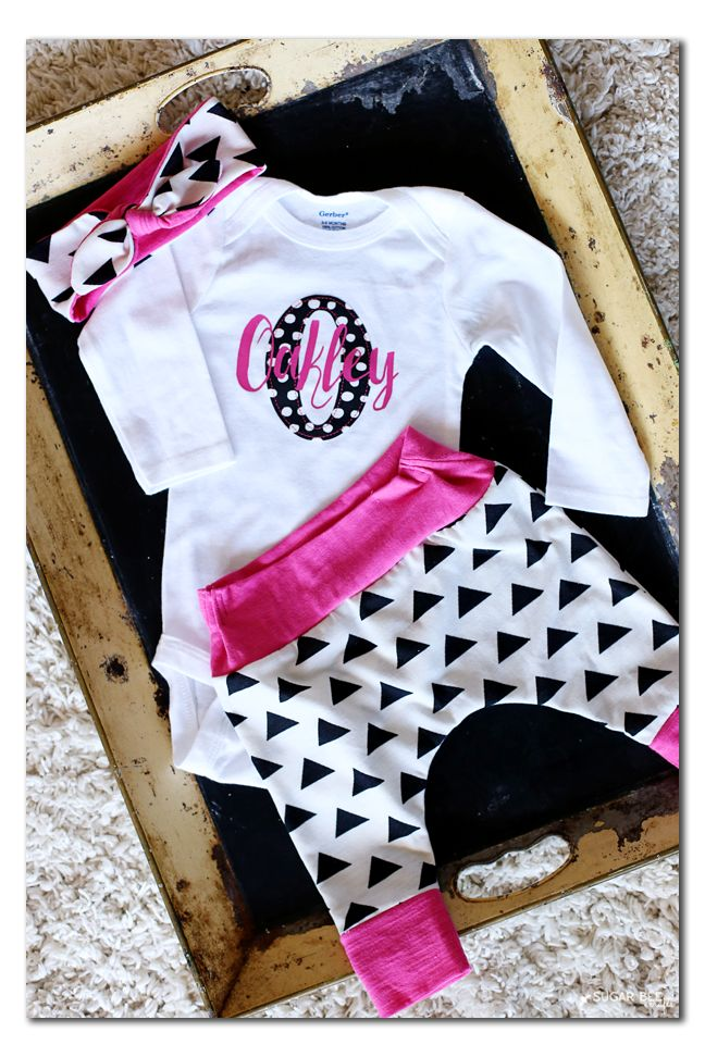 120 best oh so cuteby gifts images on pinterest silhouette personalized baby outfit negle Gallery
