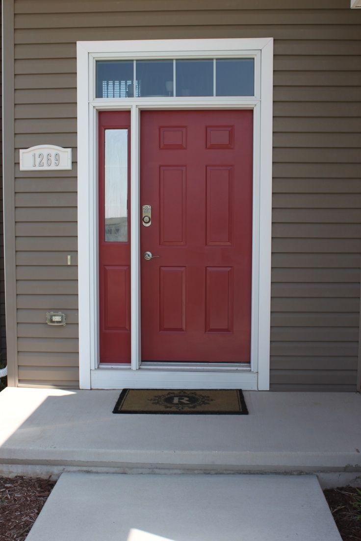 Best red color for front door best red color for front for Best exterior doors