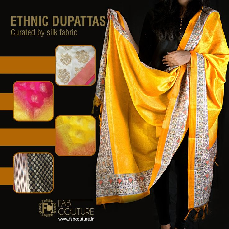 Give a rich look to your attire by having #SilkDupatta with it.  #designer #collection at #FabCouture! #DesignerFabric at #AffordablePrices.  Buy your stock of fabric from #FabCouture #DesignerDresses #Fabric #Fashion #DesignerWear #ModernWomen #WeddingFashion #IndianLook #affordablefashion #GreatDesignsStartwithGreatFabrics #LightnBrightColors #StandApartfromtheCrowd