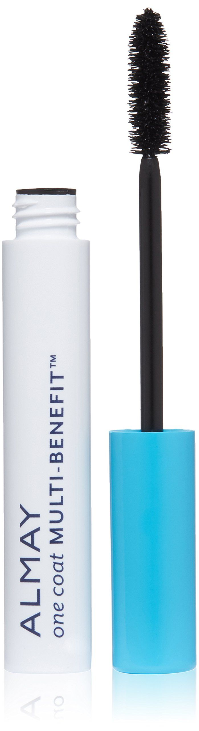 Almay One Coat Multi-Benefit Mascara, Black. #502 Black. Multi-benefit formula for volume, length, definition and nourishes with keratin. Non-irritating formula. Safe for sensitive eyes and contact lens wearers. Ophthalmologist tested. Available in 3 shades.