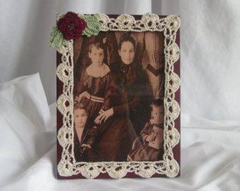 5 x 7 Photo Frame - uncinetto bordure - stile vittoriano
