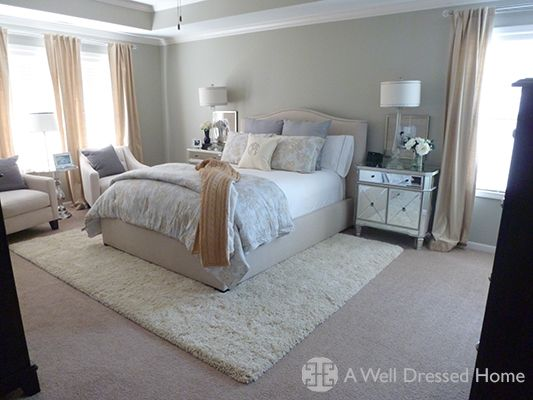 i love all the bedding choices and the rug over carpet 17010 | 19d2629f721282a51f63587fad2789d5 master bedroom makeover master bedroom design b t
