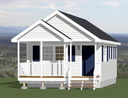 16x28 tiny house 16x28h1a 448 sq ft 16x houses for 15x28 house plans