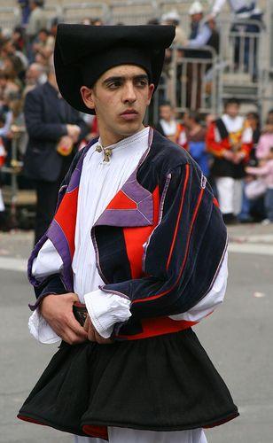 Costume di Oliena (Traditional Sardinian costume) - Sardinia - Italy
