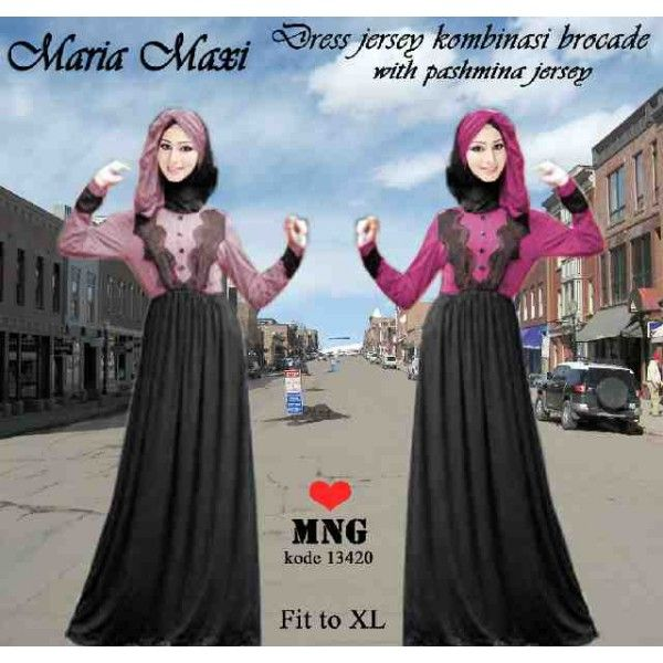 EF13420M @119rb jersey+pashmina all size fit L-XL