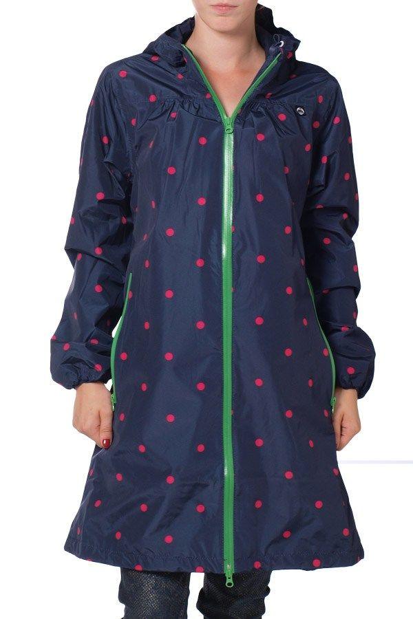Danefæ - regnfrakk - Helen Navy/Hot Pink Dots fra Danefæ