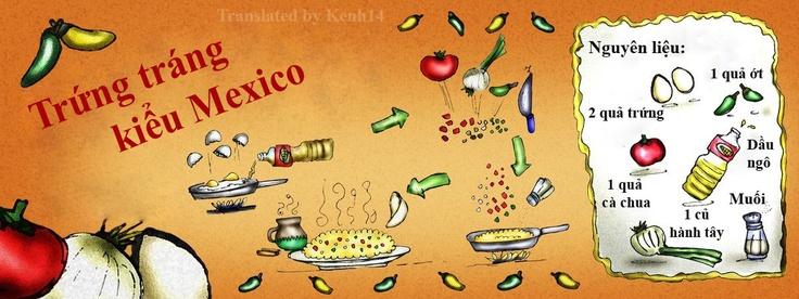 Trứng tráng kiểu Mexico