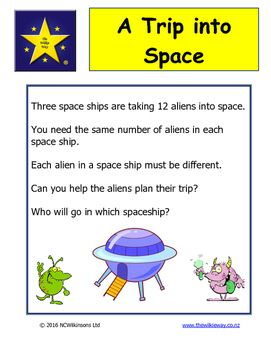 A Wilkie Way early years activity for developing language, sorting and reasoning skills.Full teacher notes included for how the activity is intended to be used. Be creative and think of other ways of using the resource.Students can make up their own stories using the spaceships and aliens.