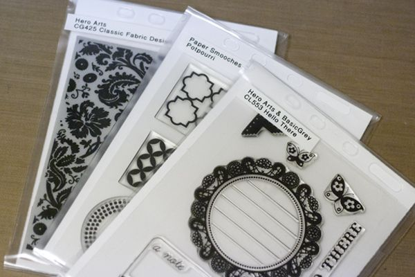 I LOVE this system for storing clear and cling stamps.