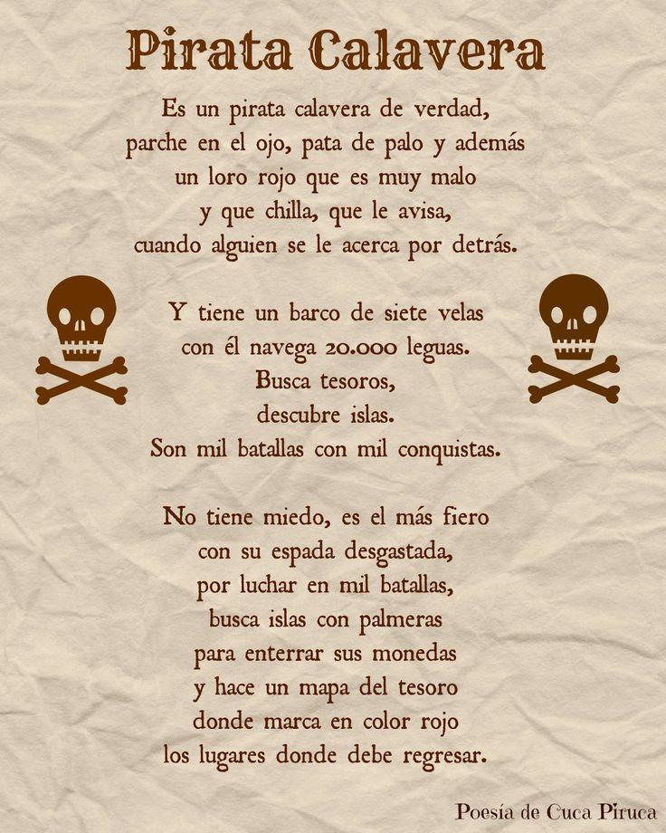 Cuca piruca pirata calavera poesias personalizadas for Buscador de poemas