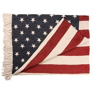 Luksustæppe med det Amerikanske flag og frynser