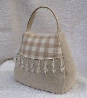 Handbag Door Stop Laura Ashley Gingham Fabric Dak Linen