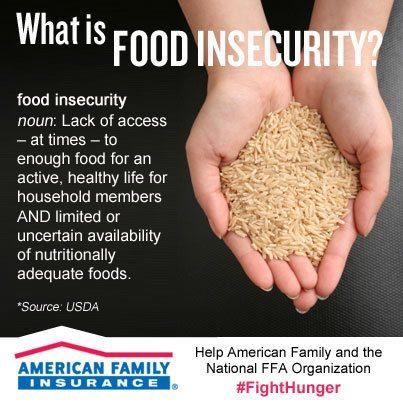 You CAN help!  Help others so they don't feel an insecurity about food!  #FightHunger https://www.facebook.com/amfam/app_401019416634682