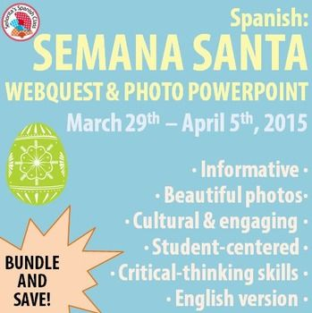webquest semana santa Special events in antigua guatemala: easter week (semana santa) easter week (semana santa in spanish, holy week) is by far the most colorful and fascinating time in.