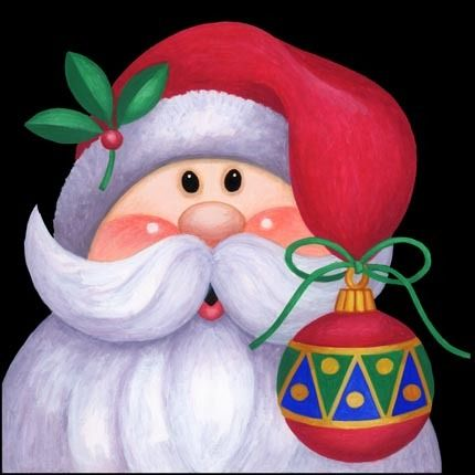 Santa with cap trimmings [my pinner title] -- by Stephanie Stouffer