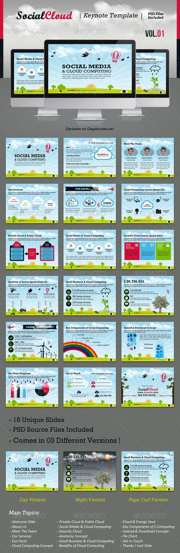 SocialCloud Keynote Template V.01 - GraphicRiver Item for Sale