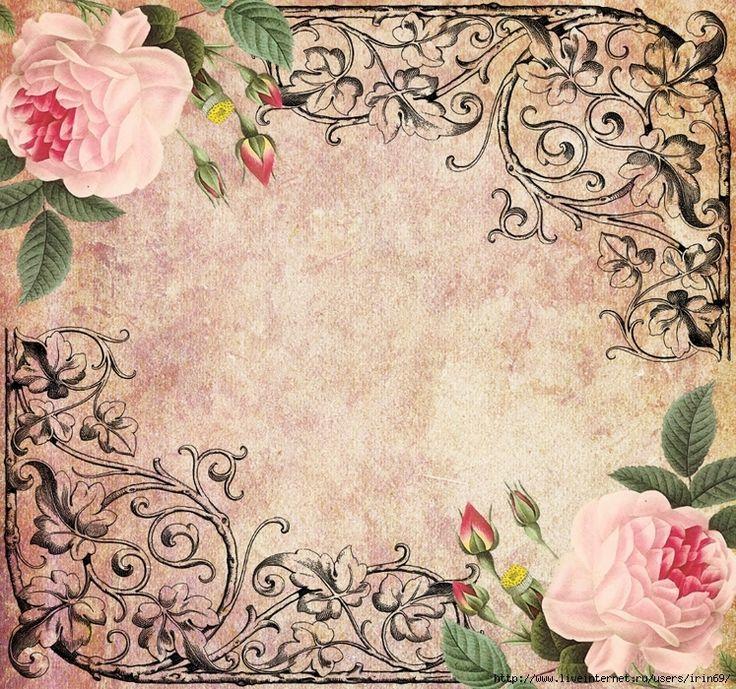 Decorative Rose Frame