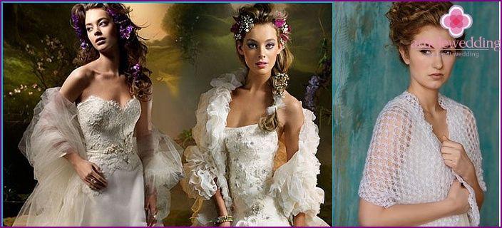 Svatební Šátek - poradenství při výběru, populární modely, pletení schéma s fotografiemi