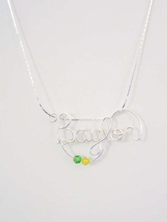Baylor wire-wrapped necklace