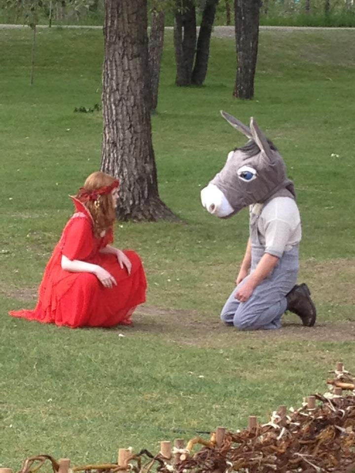 A Midsummer Night's Dream - After Bottom is transformed into a donkey, he finds Peasblossom in the forest.