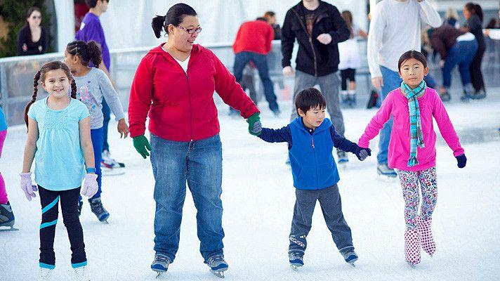 ICE at @Santa Monica, California - #winter #Los Angeles #iceskating