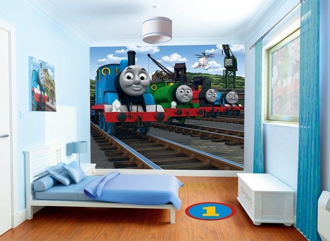 Awesome Walltastic Thomas And Friends Childrens Designer Wallpaper · Wall Murals ... Part 11