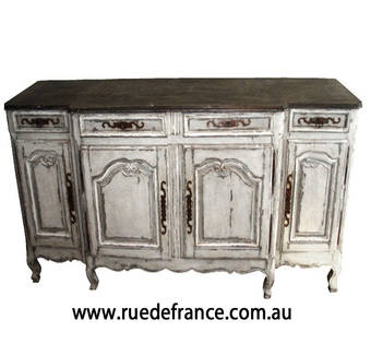 ANTIQUE FRENCH- PROVINCIAL STYLE HAND PAINTED BUFFET Sideboard