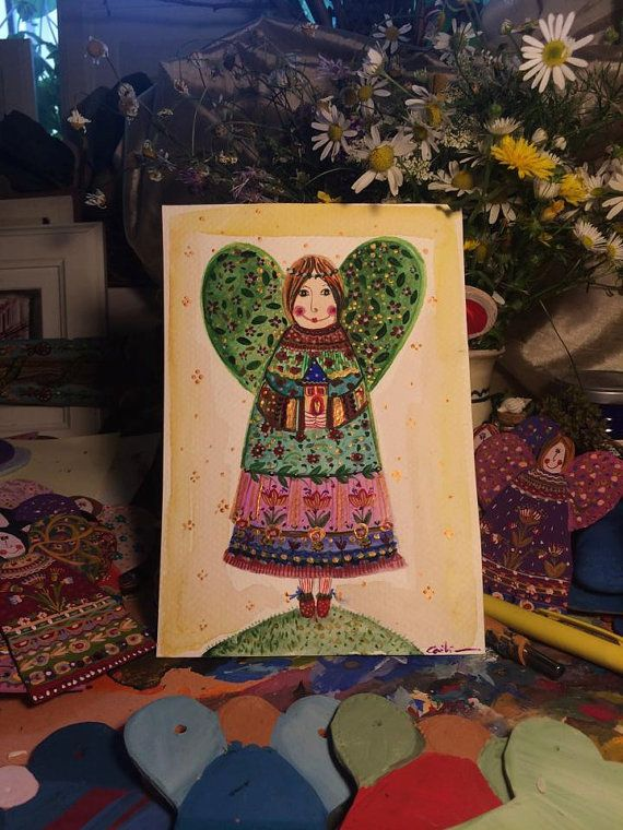 The angel of our HOME by Cecileart on Etsy
