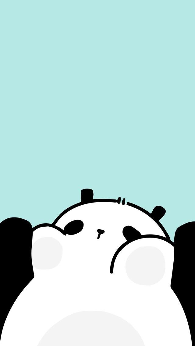 animated, drawing, and panda image