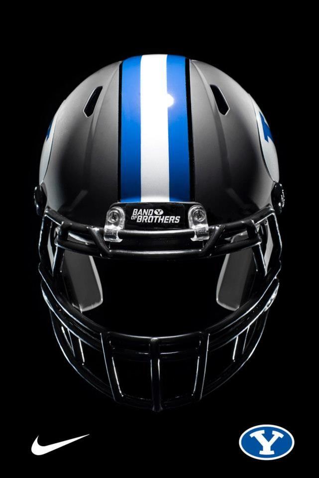 BYU Football Black Helmet. Kickin'.