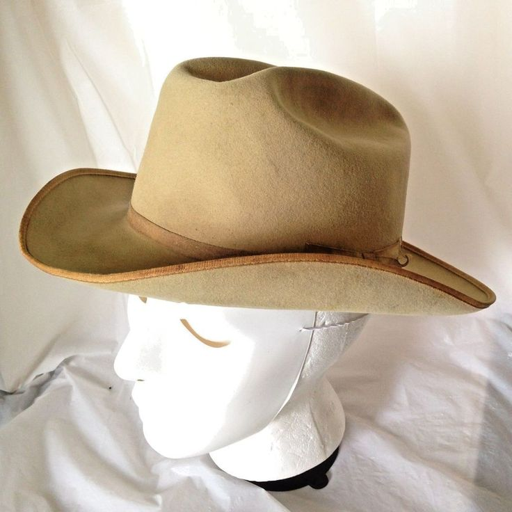Vtg Men's 1940s Royal Stetson Tan Fedora sz 6 7/8 40s Stratoliner Style Hat #Stetson #Fedora
