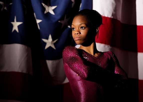 Gabby Douglas made Olympic history by becoming the first black gymnast to win the all-around gold medal. Congratulations!