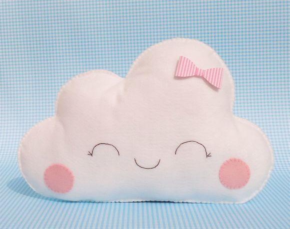 6a59b063e67562 Almofada Nuvem Fofinha Almofada Nuvem feita em feltro com enchimento ...